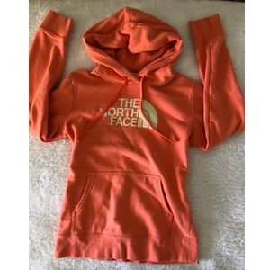 The North Face orange hoodie size S